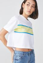 Factorie - Graphic boxy tee - white