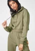 Factorie - Travis taped hoodie - khaki green