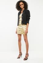 Missguided - Oriental jacquard mini dress - gold