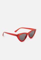 MANGO - Cat-eye sunglasses - red