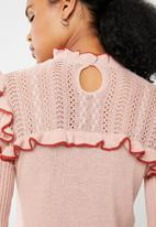 Vero Moda - Mendota ruffle knit - pink