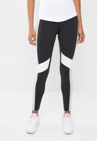 Reebok - Lux colourblock tights - black