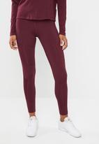 Reebok - Mesh tights - burgundy