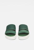 G-Star RAW - Strett sandal mesh nylon - green