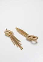 Superbalist - Multi strand knotted earrings - gold