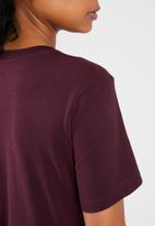 adidas Originals - Adicolour classic tee - burgundy