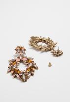 Superbalist - Flower jewelled earrings - multi