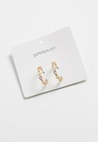 Superbalist - Chain hoop earrings - gold