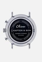 Kapten & Son - Chrono woven - blue & brown