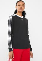 adidas Originals - 3 stripes long sleeve tee - black