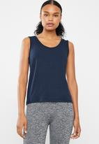 Superbalist - Cut out vest in - navy