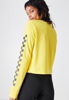 daadbd0f95c 90s crop longsleeve cuff/checker_dandelion Factorie T-Shirts, Vests ...