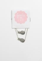 Jewels and Lace - Pineapple bracelet twin pack - silver