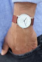 Kapten & Son - Heritage silver - brown leather