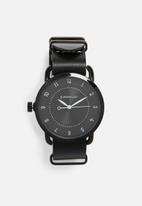 Superbalist - Reign leather watch - black