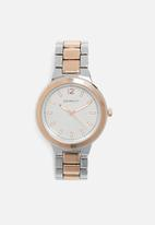 Superbalist - Cass chain strap watch - rose gold & silver