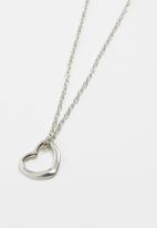 Jewels and Lace - Heart design necklace - silver