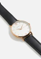 Superbalist - Lucy leather watch - black