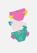 Cotton On - Girls ruffle undie pack - multi