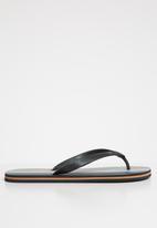 Superbalist - Mens flip flops 2 pack print - Stripe & black