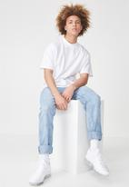 Factorie - Short sleeve stand T-shirt - white