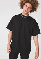 Factorie - Short sleeve stand T-shirt - black