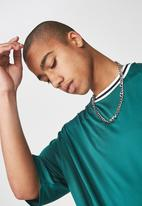Factorie - Short sleeve tape trim tee - green