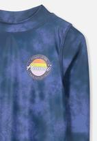 Cotton On - Fraser ls rash vest - blue