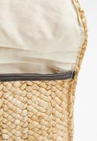 Superbalist - Woven straw clutch bag - neutral