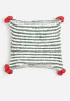 Sixth Floor - Adelaide cushion cover - green & red