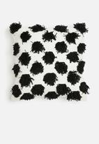 Sixth Floor - Poppy cushion cover - black & white