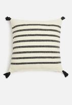 Sixth Floor - Jasper cushion cover - black & cream