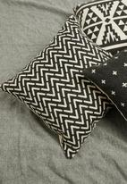 Sixth Floor - Manon printed cushion cover - black