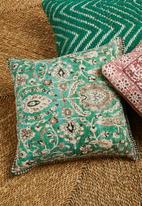 Sixth Floor - Margot printed cushion cover - green