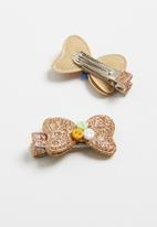 POP CANDY - Bow Hairclip - gold