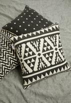 Sixth Floor - Genevieve printed cushion cover  - black & cream