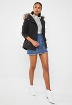 ONLY - Lucca parka jacket - black