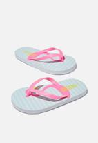 Cotton On - Printed flip flop - pink & turquoise