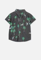 Cotton On - Zac ss shirt - green