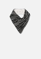 Cotton On - Dribble bib - black & white