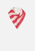 Cotton On - Dribble bib - red & white
