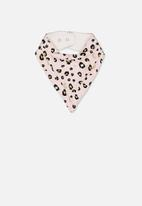 Cotton On - Dribble bib -pink and black