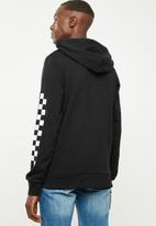 Jack & Jones - Checker sweat hoodie - black