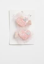 POP CANDY - Heart detailed hairclip - pink