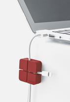 Yamazaki - Web cable organiser set of 2 small - red