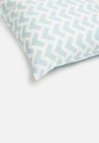Sixth Floor - Arrow cushion cover - blue