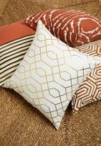 Sixth Floor - Deco cushion cover - gold & white