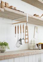 Yamazaki - Tosca under shelf kitchen tool hook - white