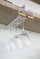Yamazaki - Tosca under shelf wine glass hanger - white
