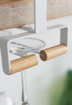 Yamazaki - Tosca under shelf wine glass hanger - white